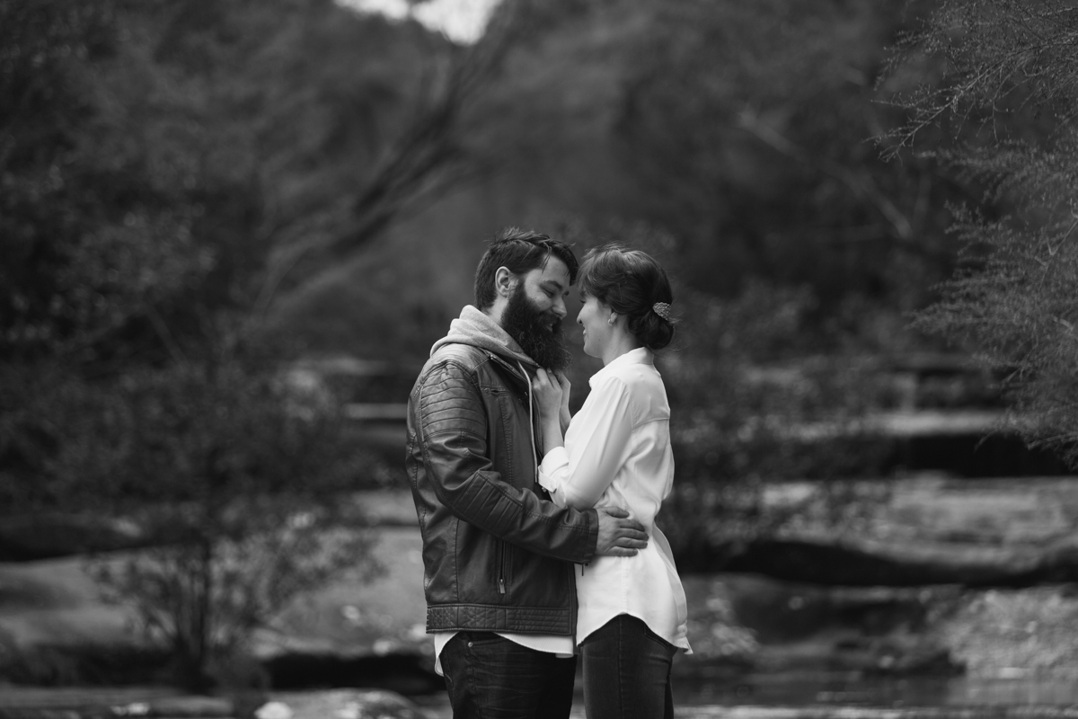 001_Engaged Couple at Somersby Falls with Central Coast wedding photographer