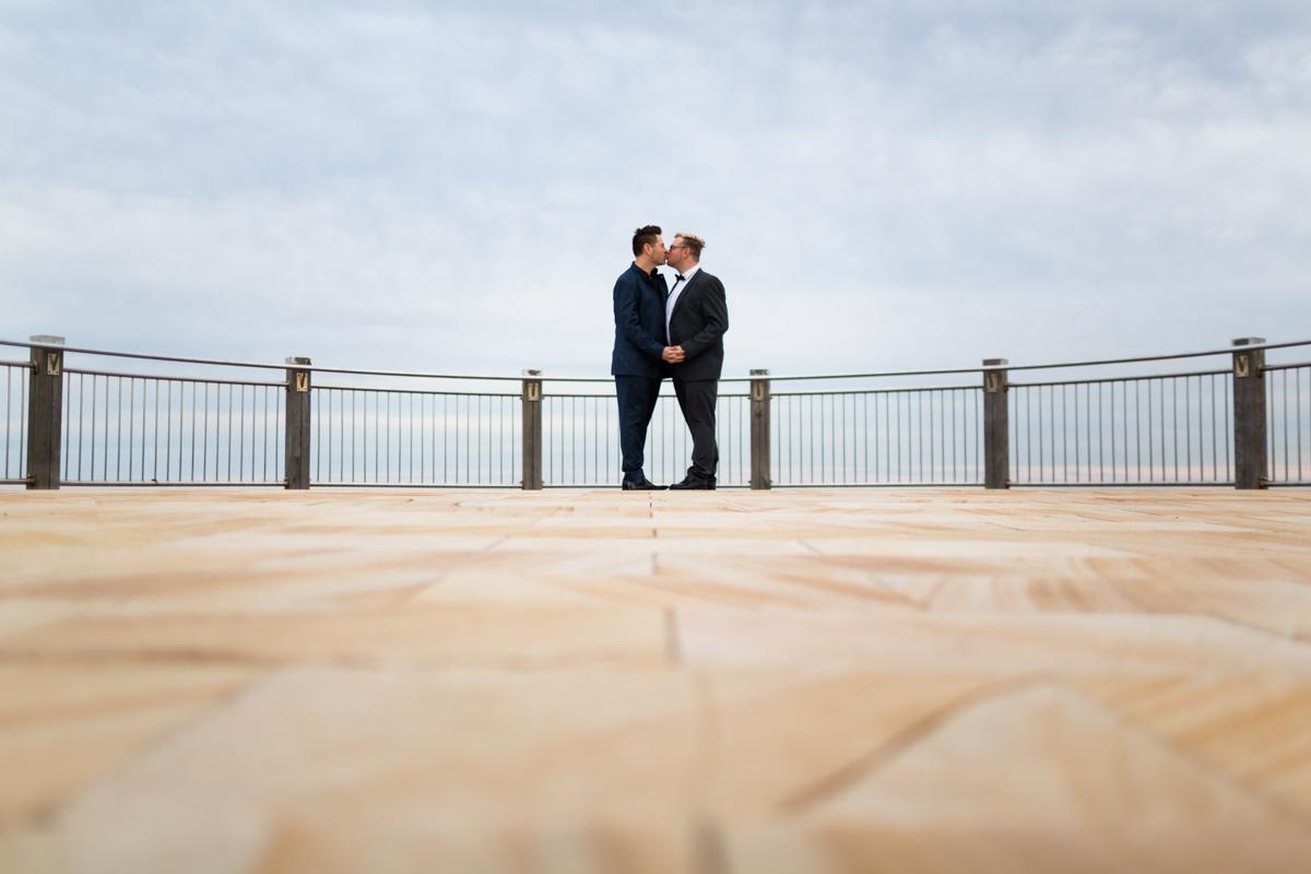 002_Quriky wedding photographer captures gay men in Newcastle NSW