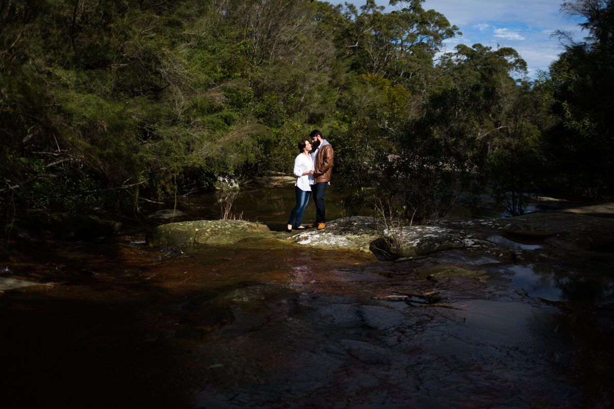 005_central coast wedding photographer captures gorgeous light at somersby falls with lovely couple