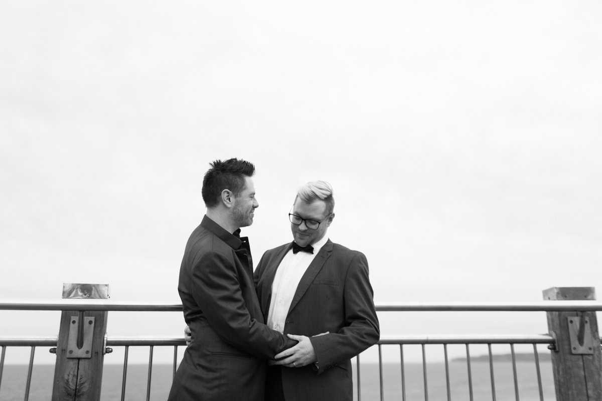 03_Same sex couple share cute moment captured by gay friendly photographer it Anzac Lookout Newcastle
