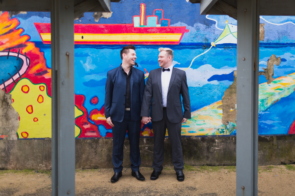 04_mr and mr at bar beach by newcastle wedding photographer