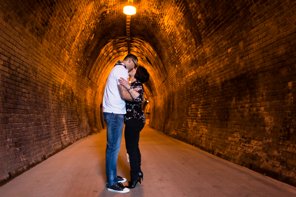 09_Gorgeous couple at pre-wedding shoot at the Fernleigh Track Tunnel Newcastle