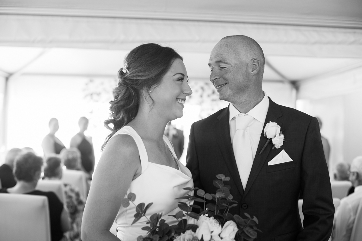 09_Just married captured by newcastle wedding photographer at marina views
