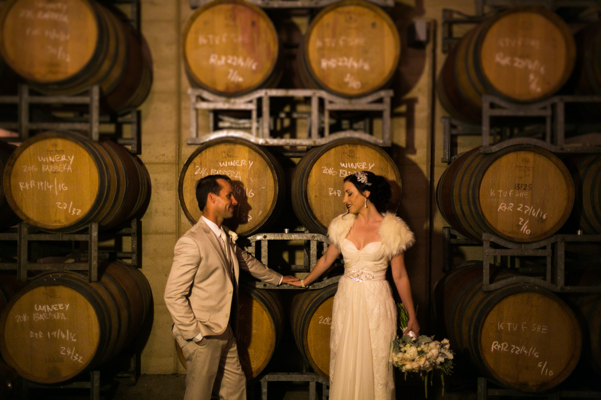 11_margan wines barrel room is perfect for awesome wedding photography