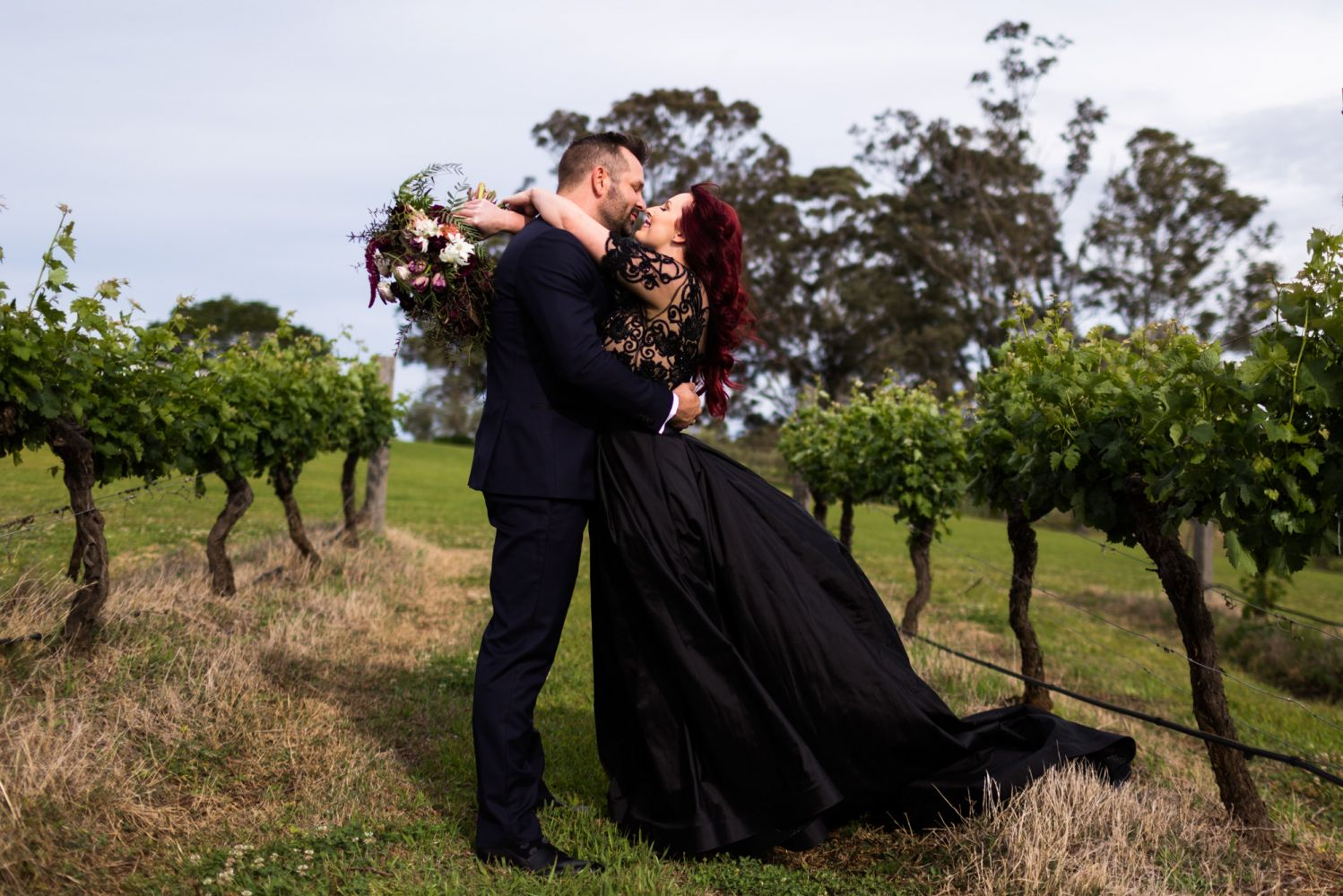 9_beautiful-bride-in-black-at-wandin-valley-by-hunter-valley-wedding-photographer-2
