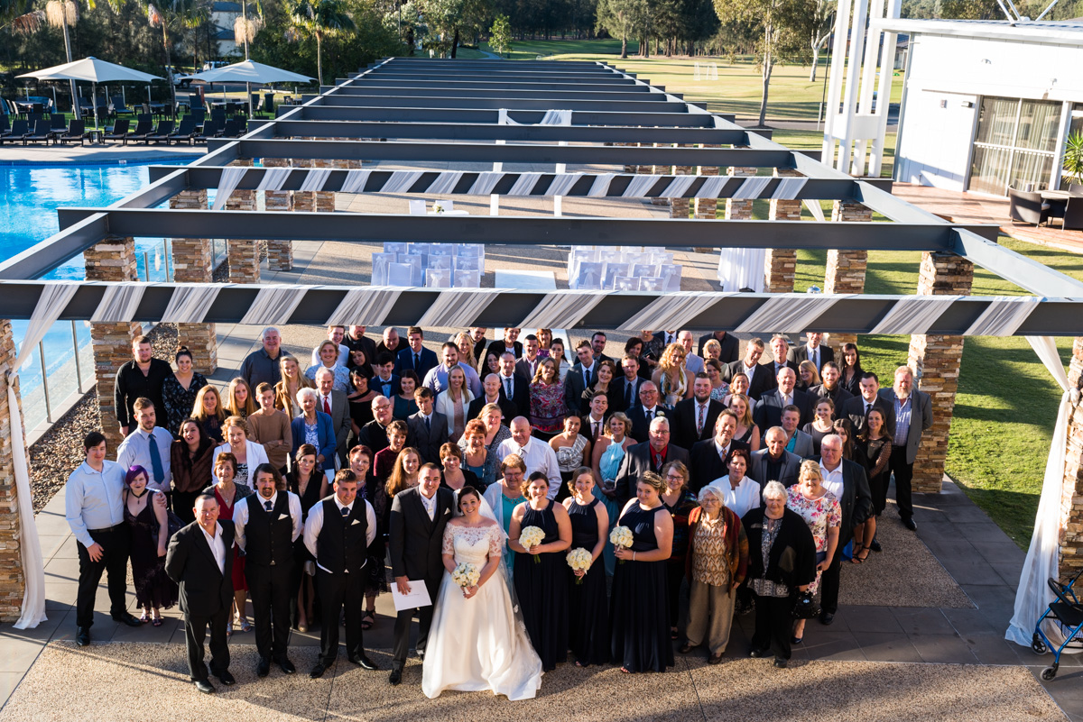 24_group photo after wedding ceremony at crowne plaza