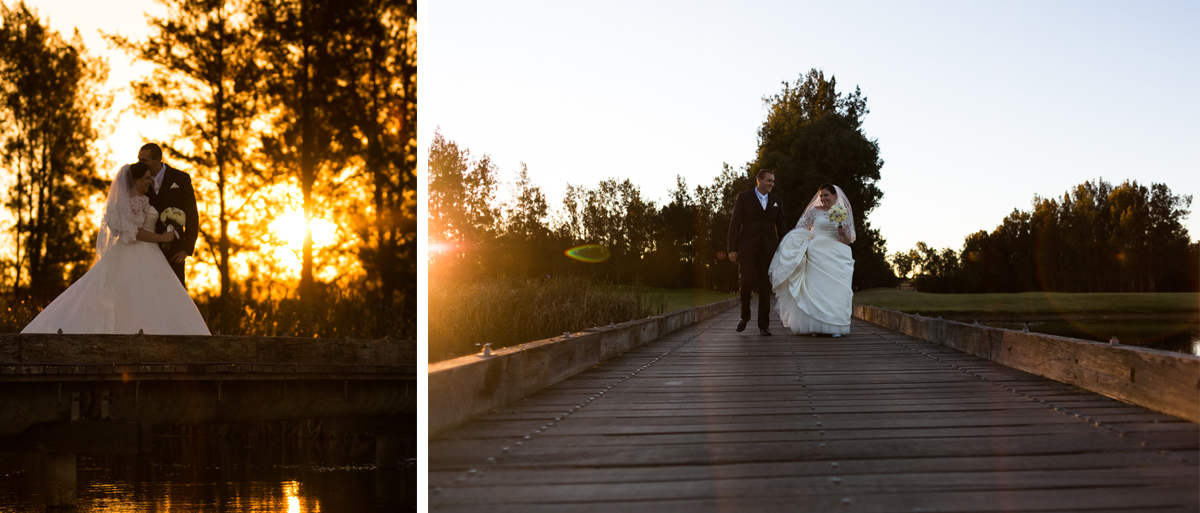 34_Bride and groom at crowne plaza pokolbin at sunset
